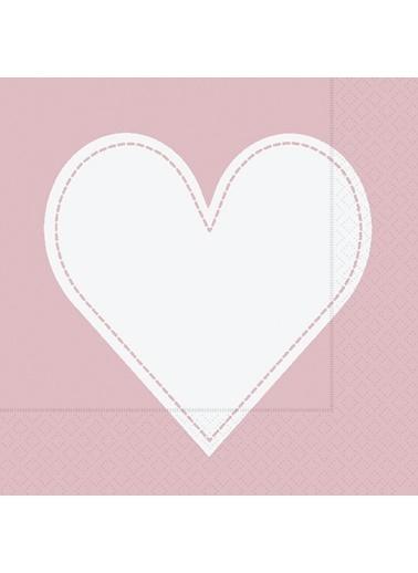 Dünya Style Heart Rose Peçete Renkli